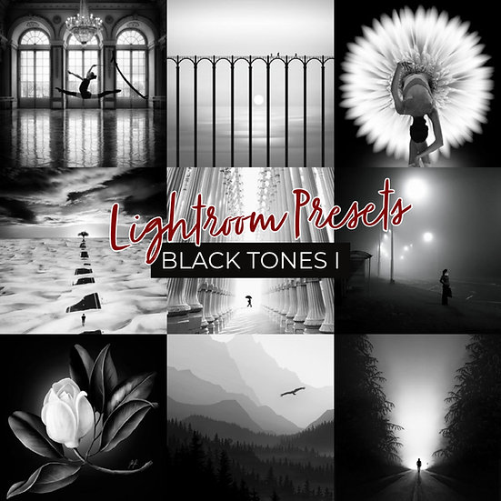 KAT'S LIGHTROOM PRESETS - BLACK TONES I
