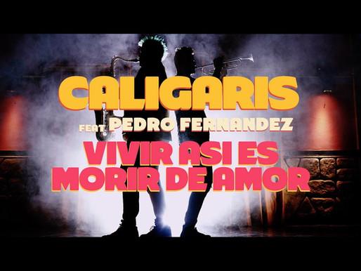 Caligaris y Pedro Fernández presentaron el video de «Vivir así es morir de amor»