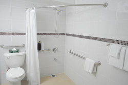 Studio with accessible restroom