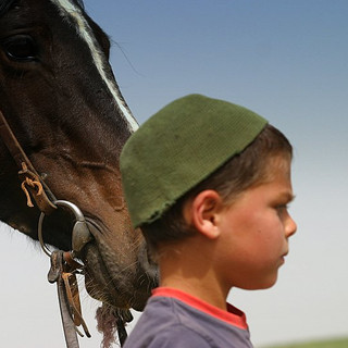 Kid and a Horse by Arielzuk
