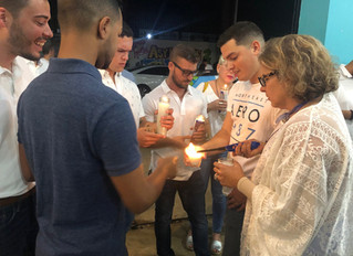 Fundacion Stefano organized a Vigil in memory of Gaby Cochran. He was 24 when he was murdered leavin