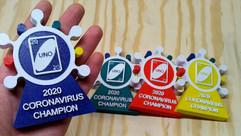 Coronavirus UNO Champion Trophies