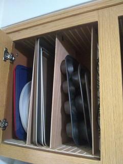 Kitchen Cupboard Pan Organizer