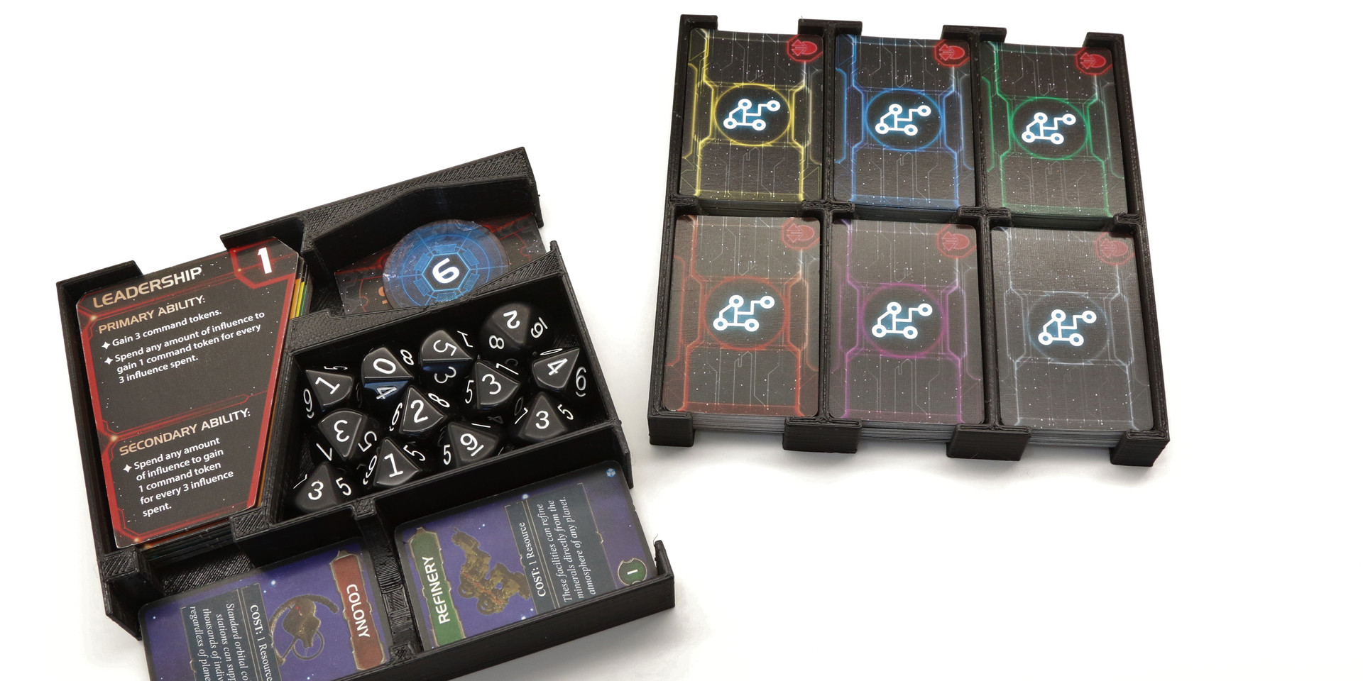 Twilight Imperium Cards and Dice Organizers