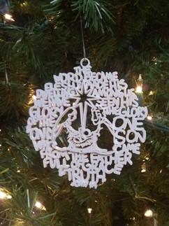Circle Christmas Ornament John 1:14