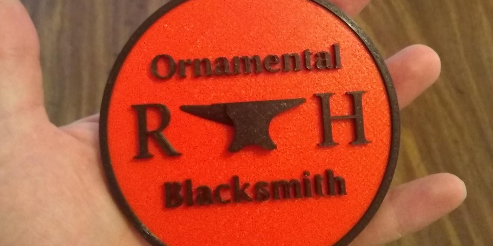 Blacksmith Christmas Ornament