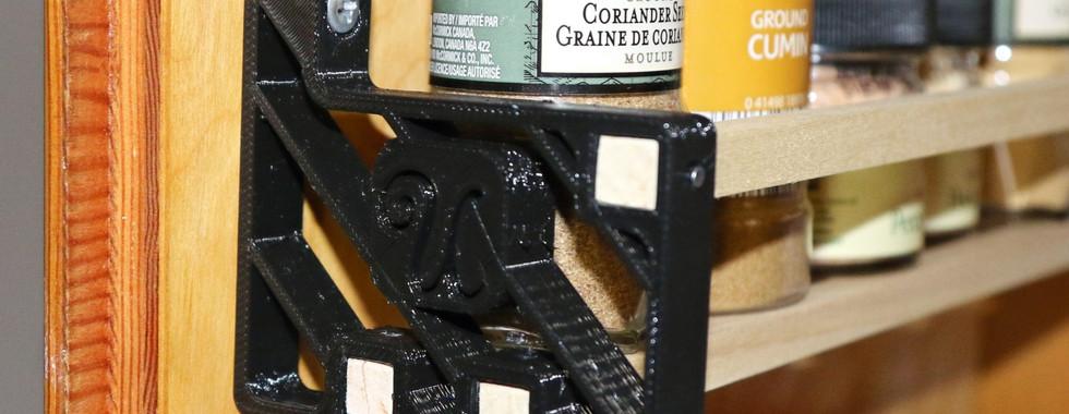 Monogrammed Spice Rack Shelves