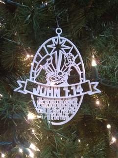 Oval Christmas Ornament John 1:14