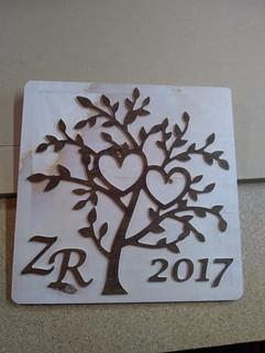 CNC Tree Valentine's Day Gift