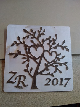 CNC Tree Valentine's Day Gift