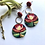Thumbnail: Red round protea inspired earrings
