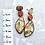 Thumbnail: Golden floral stud earrings