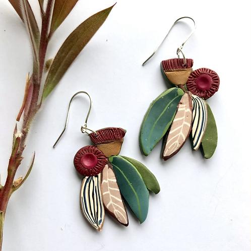 Gumnut blooms earrings