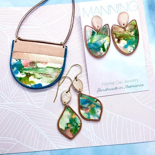 Watercolour earrings