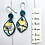 Thumbnail: Navy a golden flower earrings