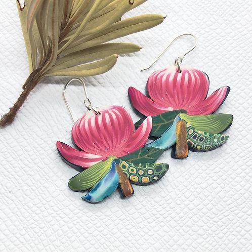 In bloom Waratah earrings