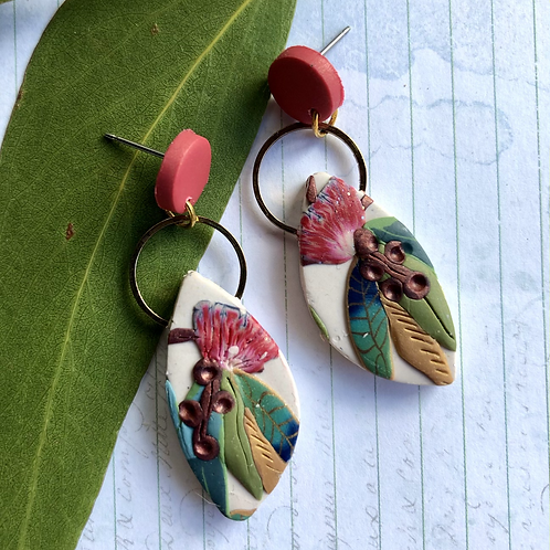 Floral red native dangles