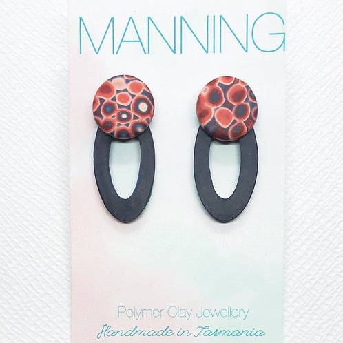 Elegant patterned drop earrings