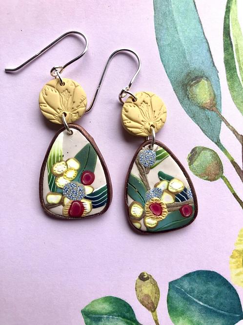 Lemon wattle inspired earrings