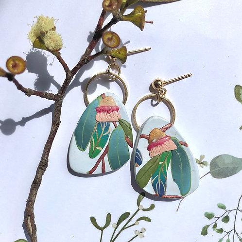 Eucalyptus stud dangles