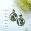 Thumbnail: Round ruby gumnut earrings