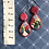 Thumbnail: Ruby red native flora earrings