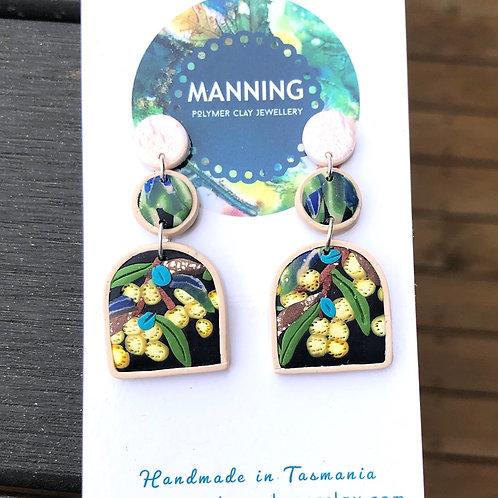 Wattle drop earrings