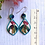 Thumbnail: Beautiful teal and red native earrings