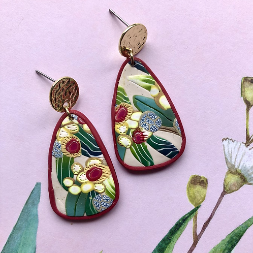 Gold topped wattle dangles