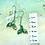 Thumbnail: Aqua whale tail earrings