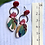 Thumbnail: Red floral stud dangles