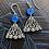 Thumbnail: Blue tipped lace earrings