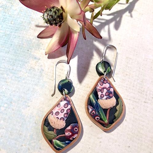 Native banksia earrings