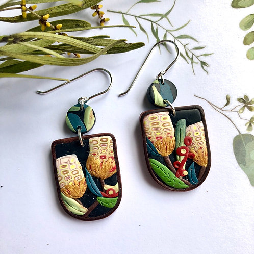 Gorgeous native banksia earrings