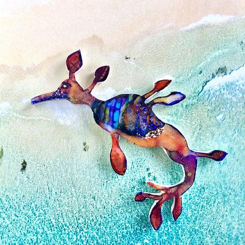Weedy sea dragon necklace/brooch