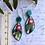 Thumbnail: Teal edged gumnut earrings