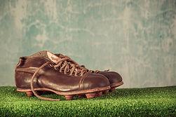 Oude voetbalschoenen