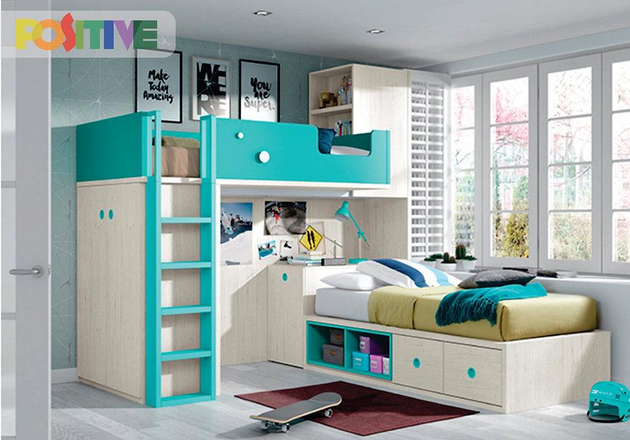 Positive muebles dise o de habitaciones infantiles for Muebles juveniles zona norte