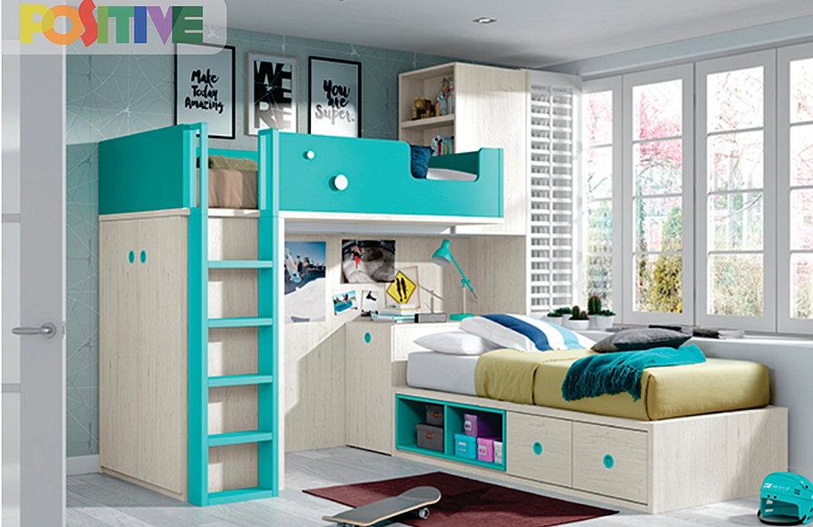 Positive muebles dise o de habitaciones infantiles for Pegatinas infantiles para muebles