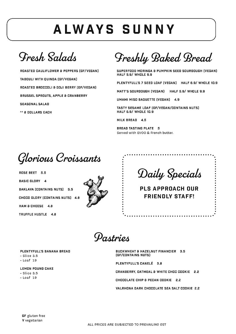 Deli Food and Bev Combined Menu for webs