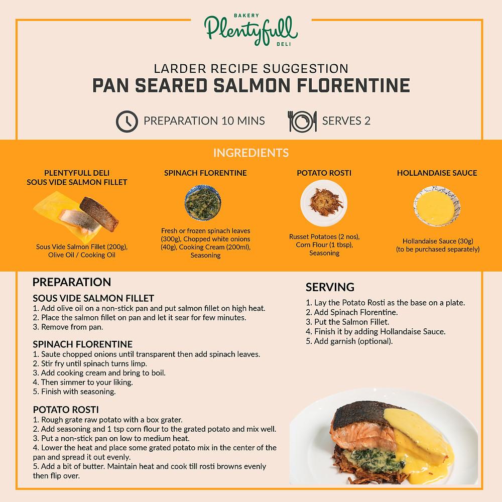 Plentyfull's Salmon Florentine Recipe