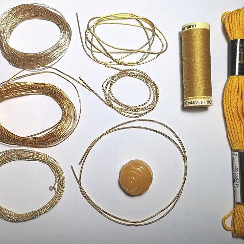 Goldwork Starter Kits - Gold, Copper, Silver