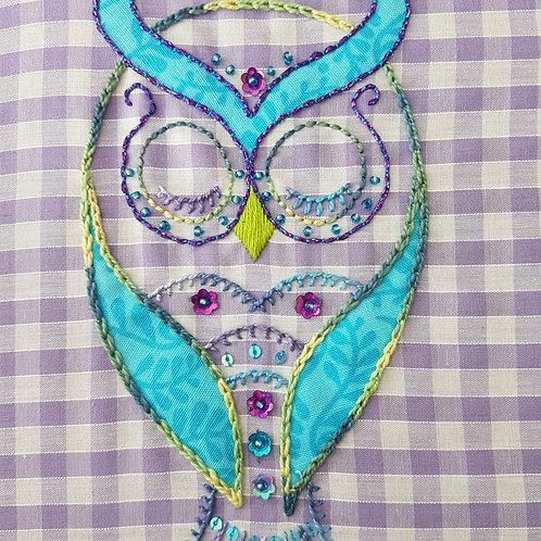 Sleepy Owl Embroidery Kit