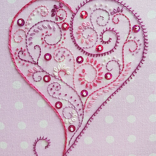Rustic Heart Embroidery Kit