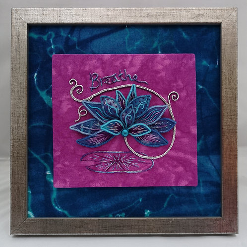 'Breathe' - Original textile art by Sonja Galsworthy