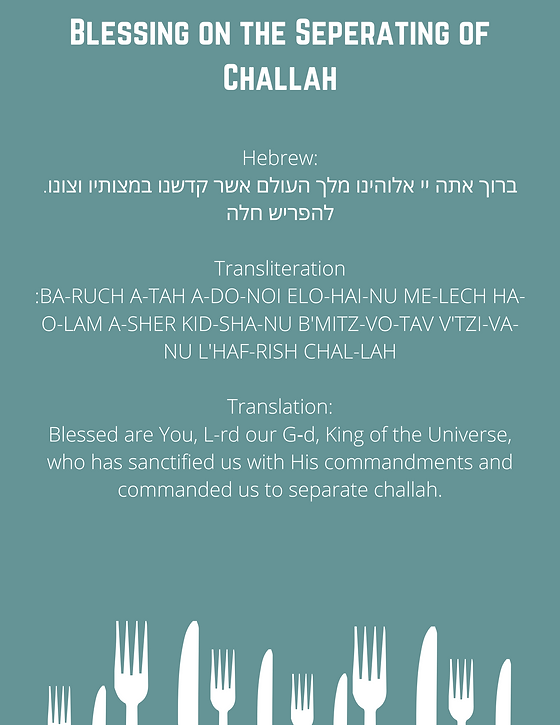 Blessing on the Challah