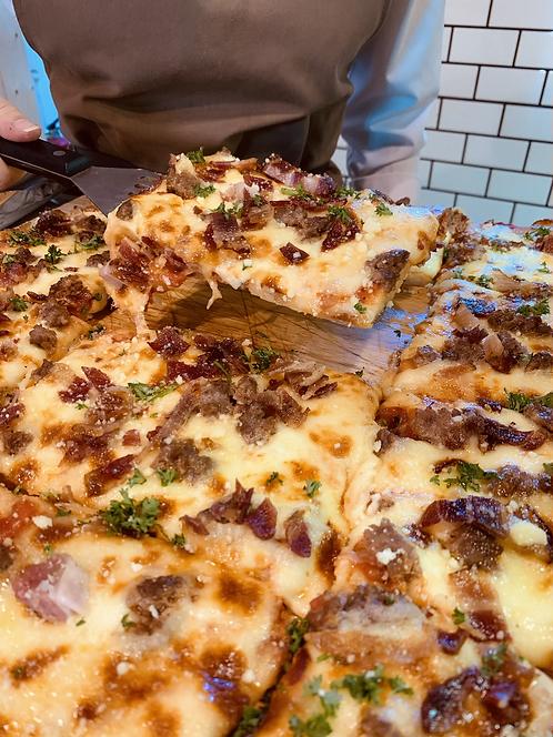 Meat Pizza Square Sicilian Style