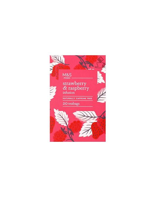 M&S Strawberry & Raspberry Caffeine-Free Tea Bags