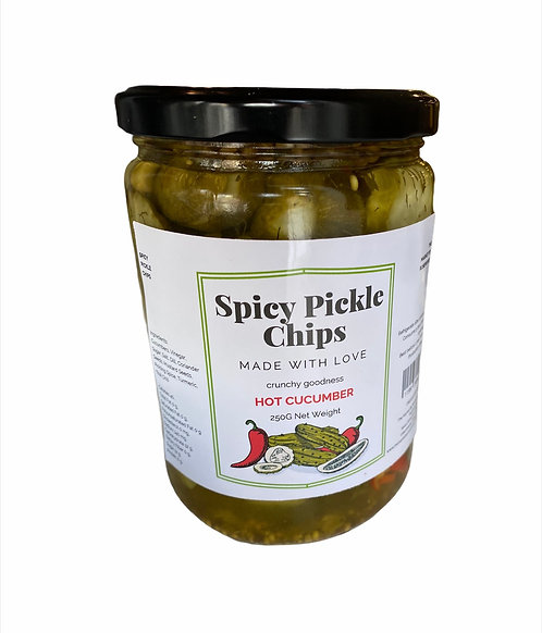 Spicy Pickle Chips Cucumber