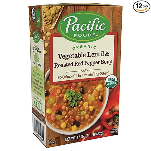 Pacific Foods Organic Vegetable Lentil & Roasted Red Pepper Soup
